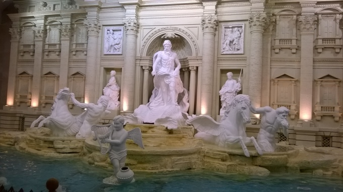 And recreating famous European fountains